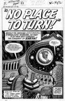 FOX, MATT / LIEBER - Tales To Astonish #51 2-up pg 1 splash, Sci Fi Alien Invaders story Comic Art