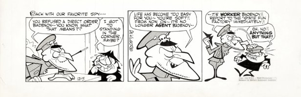 KILGORE, AL - Bullwinkle Daily 12/5 1962, Fearless Leader slaps down Boris Comic Art