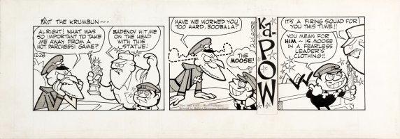 KILGORE, AL - Bullwinkle Daily 12/4 1962, Boris knocks out Fearless Leader as Moose Comic Art