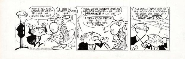 KILGORE, AL - Bullwinkle Daily 12/4 1962, Bullwinkle Moose meet Mad-Men Comic Art