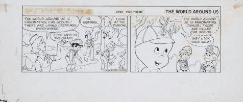 KREMER, WARREN - Casper Friendly Cub Scout daily, April 1978 Comic Art