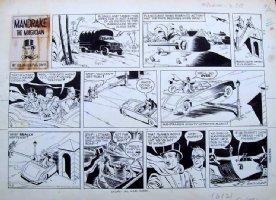 DAVIS, Phil - Lee Falk' Mandrake the Magician Sunday 9/2 1962 Comic Art