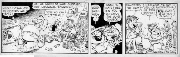 ZABOLY, BILL - Popeye daily 2/8 1955 , Abdominal Snowman Comic Art