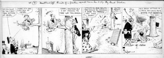 FISHER, BUD - Mutt and Jeff daily 4/16 1931 Comic Art