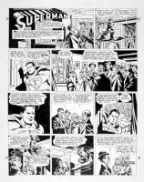 BORING, WAYNE - Superman #478 Sunday 12/26 1948, Superman magic carpet Comic Art