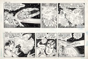 DELBO, JOSE - Superman 2 dailies, Supes defeats Luthor in space 1/4 & 1/5 1984 Comic Art