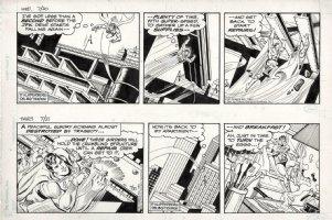 DELBO, JOSE - Superman 2 dailies, Supes saves JFK drive 7/20 & 7/21 1983 Comic Art