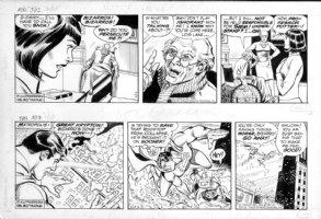 DELBO, JOSE - Superman 2 dailies, Supes vs Bizarro, Bizarros creator Prof Potter 3/12 & 3/13 1985 Comic Art