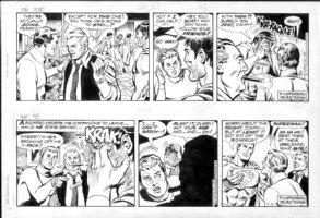 DELBO, JOSE - Superman 2 dailies, Supes dressed as Bizarro, leads Bizarros away  3/30 & 3/31 1985 Comic Art