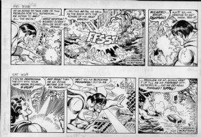 DELBO, JOSE - Superman 2 dailies 8/23 & 8/24- 1984 Comic Art