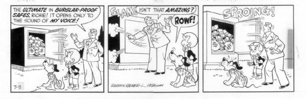 KREMER, WARREN - Richie Rich daily 7-9 1970s? Comic Art