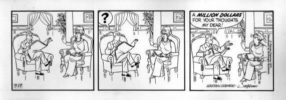 KREMER, WARREN - Richie Rich daily, Richie's parents 1970s? Comic Art
