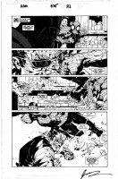 BACHALO, CHRIS - Amazing Spiderman #575 pg 21, Spidey, Hammer Head Comic Art