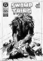 BISSETTE, STEVE & BILL SIENKIEWICZ - Swamp Thing #63 cover, large ST, revenge. Next to last Alan Moore issue! Comic Art