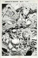 DENHAM, BRIAN / JONATHAN SIBAL - ALAN MOORE's Violator vs Badrock #3 Splash Comic Art
