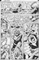MCMANUS, SHAWN - Swamp Thing #28 pg 6, Swampthing buries Alec's bones Comic Art