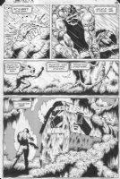 MCMANUS, SHAWN - Swamp Thing #28 big panel pg 9, Swampthing buring Alec, ghost of Alec & death site Comic Art