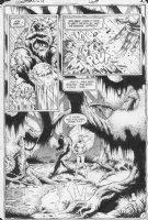 MCMANUS, SHAWN - Swamp Thing #28 splashy pg 2, Swampthing buring Alec, Swampthing & Abby in swamp Comic Art