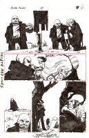 BYRNE, JOHN - Alpha Flight #13 pg 5, funeral scene - Heather, Walter, Puck & Wolverine  sneaks a smoke - NFS Comic Art