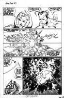 BYRNE, JOHN - Alpha Flight #4 page 3, the Invisible Woman and Namor investigate the origin of Marrina Comic Art