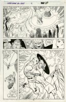 BYRNE, JOHN - Avengers West Coast Annual #4 pg 29, Captain America vs Wasp & X-Men's Storm  1989 Comic Art
