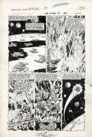 BYRNE, JOHN / JOE SINNOTT - Fantastic Four Annual #19 large pg 16,  Infant Terrible escapes Skrull invasion 1985 Comic Art