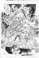 BYRNE, JOHN - Amazing Spider-Man #10 pg 14, Dr Octopus vs Captain Power Comic Art