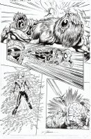BYRNE, JOHN - Amazing Spiderman #446 (v2 #5 pg 15), Spidey & 1st Martha Franklin as Spider Woman Comic Art