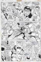 EVERETT, BILL & ANDRU, ROSS - Marvel Feature #1 pg 17, 1st Defenders - Hulk vs Subby vs Doc Comic Art