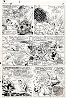 EVERETT, BILL - Tales To Astonish #87 pg 3, Sub-Mariner rescues Lady Dorma and Krang...only to have Krang return the favor by attacking the wounded Namor Comic Art