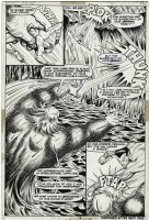 EVERETT, BILL - Sub-Mariner #55 pg 12, splash page. Subby battles Torg in an ice-cave Comic Art