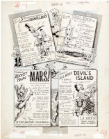 EVERETT, BILL - Cracked Mag #14 pg 2, Inside Cover, travel to Mars, jungles & water - 1960 Comic Art
