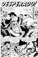 EVERETT, BILL - Kid Colt Outlaw #90  Desperado  large pg 1 splash of 4 pg story,  Marvel/Atlas, 1960 Comic Art