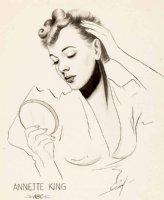 EVERETT, BILL - NBC Radio singer  Annette King  promo Illustration, 1945-46 Comic Art