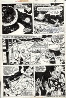 BUSCEMA, SAL & JOE STATON - Avengers #133 pg 23, Thor Hawkeye Mantis & Origin of Kree Comic Art