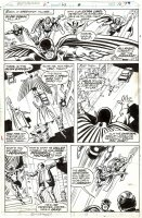BUSCEMA, SAL - Defenders #63 pg 14, Nighthawk leads Nova Polaris Marvel-Boy Son-of-Satan 1978 Comic Art