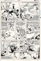 BUSCEMA, SAL - Marvel Team Up #130 pg 17, Spidey, Vision & Scarlet Witch Comic Art