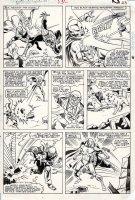 BUSCEMA, SAL - Marvel Team Up #130 pg 17, Spidey, Vision & Scarlet Witch Comic Art