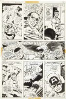 BUSCEMA, SAL - Captain America #158 pg 14, Cap & Falcon + Redwing in rain Comic Art