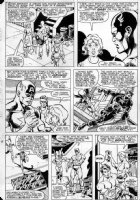 BUSCEMA, SAL - Captain America #284 pg 8, Cap & Bucky II / Nomad hit the streets and change costume Comic Art