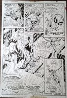 BUSCEMA, SAL - Marvel Team-Up #38 pg 2, Spiderman saves creator of the Griffin, Beast story 1975 Comic Art