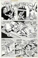 BUSCEMA, SAL - Marvel 2-in-One Annual #1 pg 19, Liberty Legion: Red Raven / Whizzer / Miss America / Jack Frost / Blue Diamond vs Master Man 1976 Comic Art