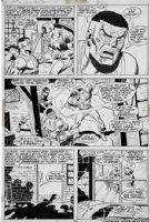 BUSCEMA, SAL - Captain America #154 pg 12, Falcon beaten by 1950s Captain America & Bucky (Noman) Comic Art