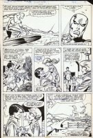 BUSCEMA, SAL - Incredible Hulk #250 pg 19, Silver Surfer soars & Banner farms Comic Art