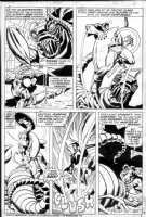 BUSCEMA, SAL - Captain America #166 page 4, Captain America vs giant scorpion Comic Art