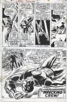 HECK, DON / GEORGE TUSKA - Iron Man #36 last pg 20 half splash - Iron Man defeated Comic Art