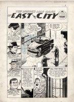 TUSKA, GEORGE - Crime Does Not Pay #133 Splash, Murder Mad Gang, last pre-code year 1954 Comic Art