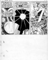 HECK, DON / GEORGE TUSKA - Iron Man #36 pg 13, death ray Comic Art