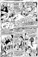 George Tuska - Iron Man #48 half splash pg 5, Iron Man, Guardsman Comic Art