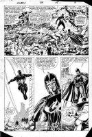 BUSCEMA, JOHN / TOM PALMER - Avengers #258 Splashy pg 15, Black Spiderman vs Firelord Comic Art